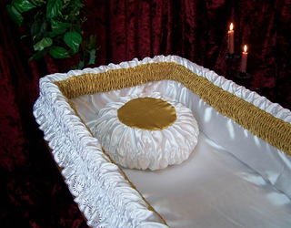 Coffin lining, funeral accessories